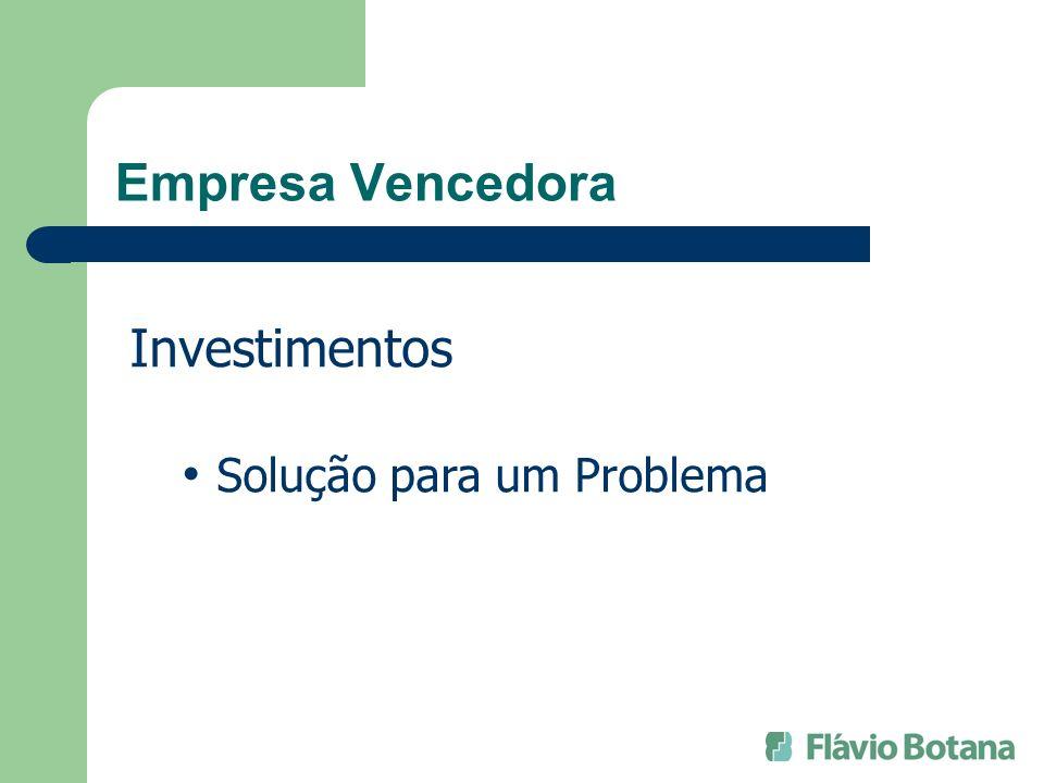 Empresa Vencedora Investimentos Solução para um Problema