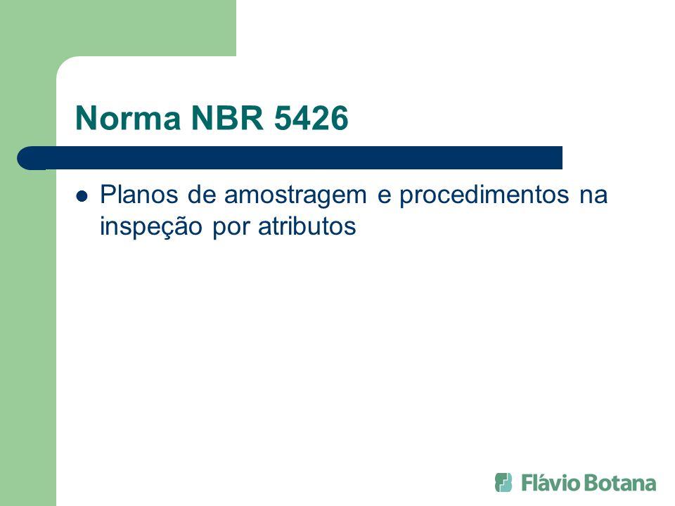 Norma NBR 5426 Planos de amostragem e procedimentos na inspeção por atributos