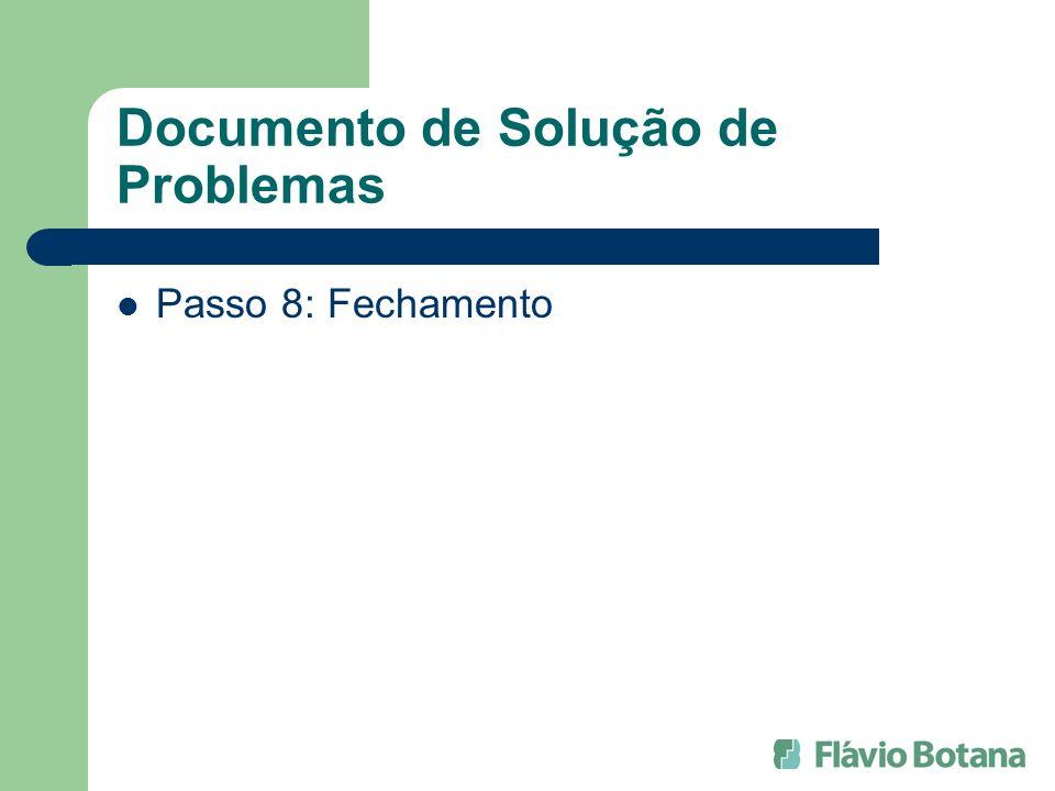 Documento de Solução de Problemas