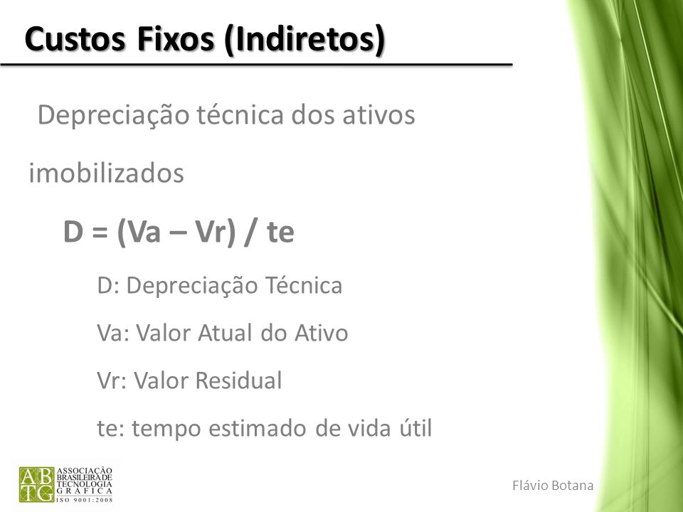 Custos Fixos (Indiretos)