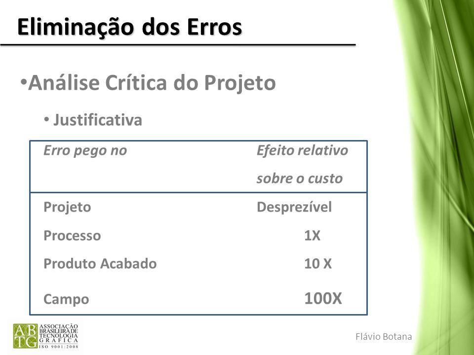 Eliminação dos Erros Análise Crítica do Projeto Justificativa