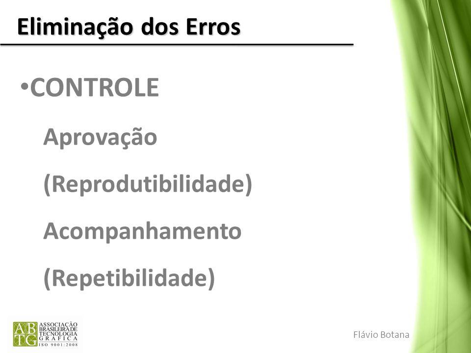 CONTROLE Eliminação dos Erros Aprovação (Reprodutibilidade)