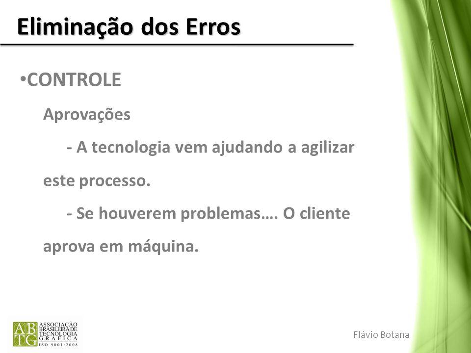 Eliminação dos Erros CONTROLE Aprovações