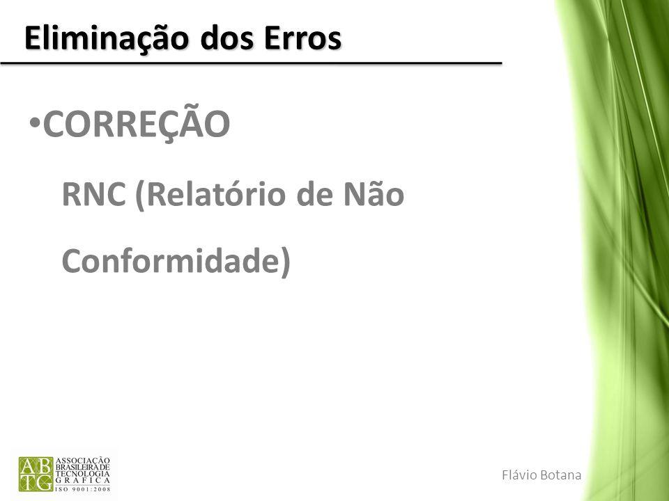 CORREÇÃO Eliminação dos Erros RNC (Relatório de Não Conformidade)