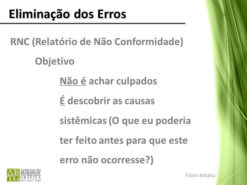 Eliminação dos Erros RNC (Relatório de Não Conformidade) Objetivo