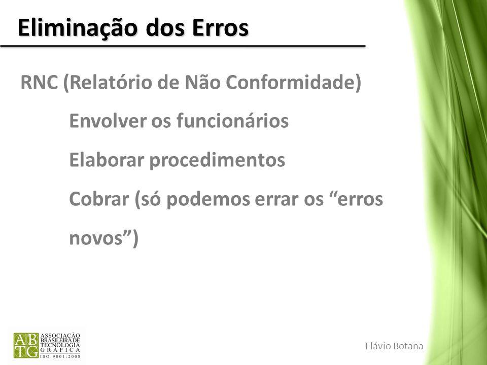 Eliminação dos Erros RNC (Relatório de Não Conformidade)