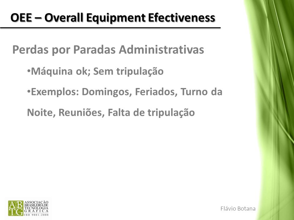 OEE – Overall Equipment Efectiveness