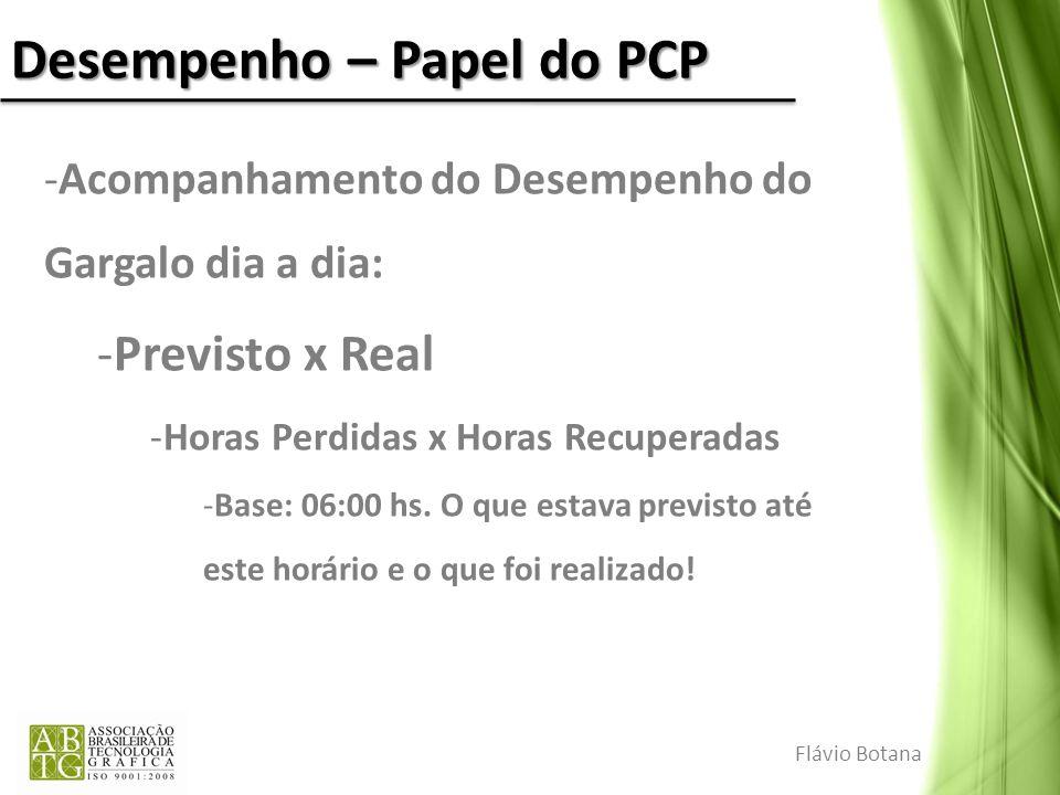 Desempenho – Papel do PCP