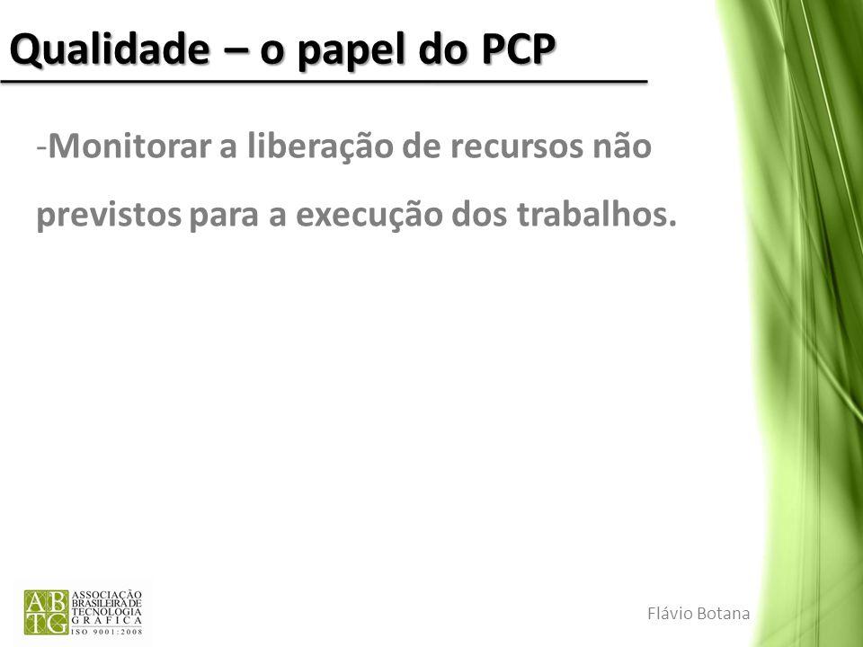 Qualidade – o papel do PCP