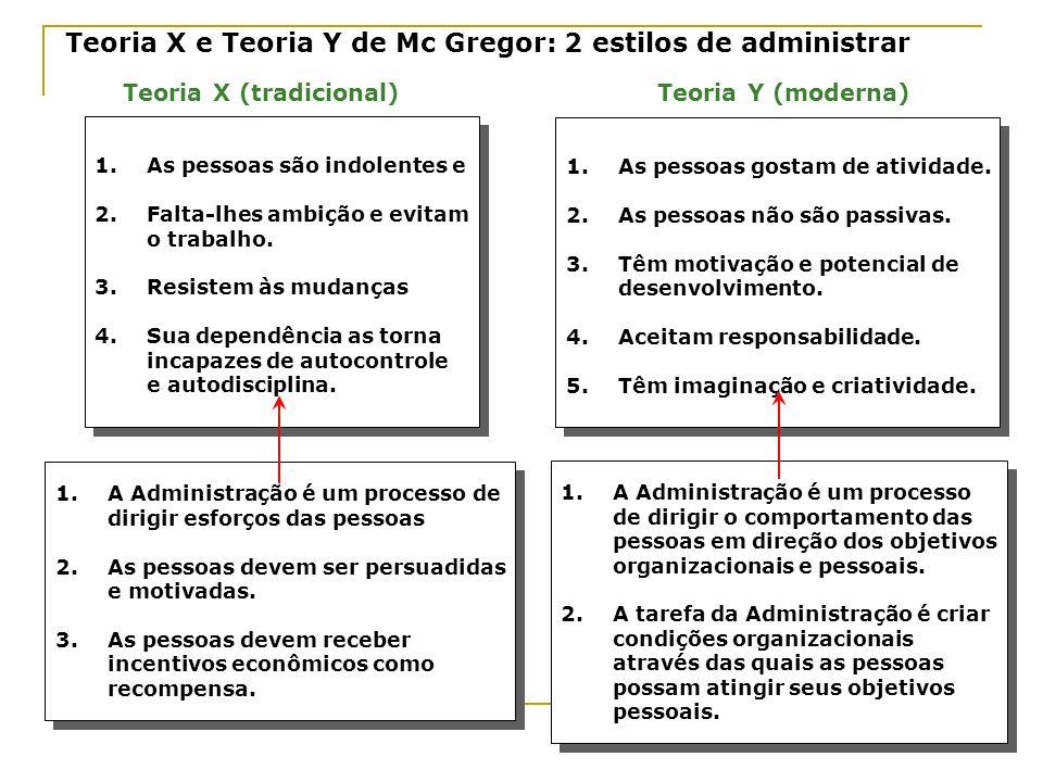 Teoria X e Teoria Y de Mc Gregor: 2 estilos de administrar