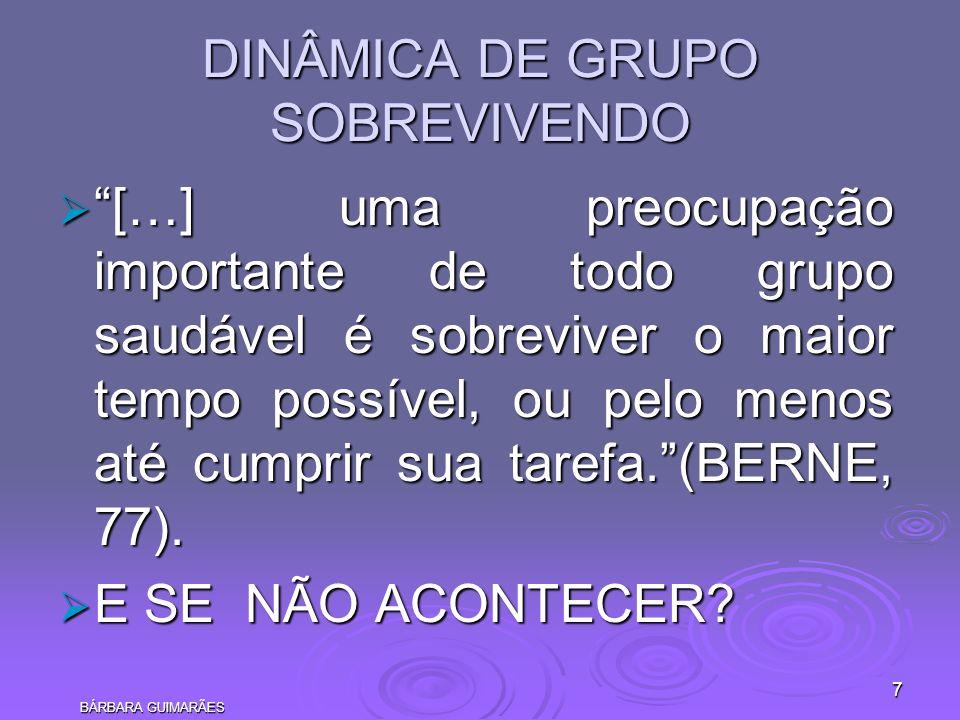 DINÂMICA DE GRUPO SOBREVIVENDO