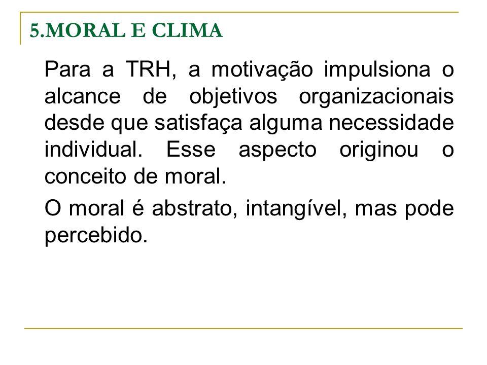 O moral é abstrato, intangível, mas pode percebido.