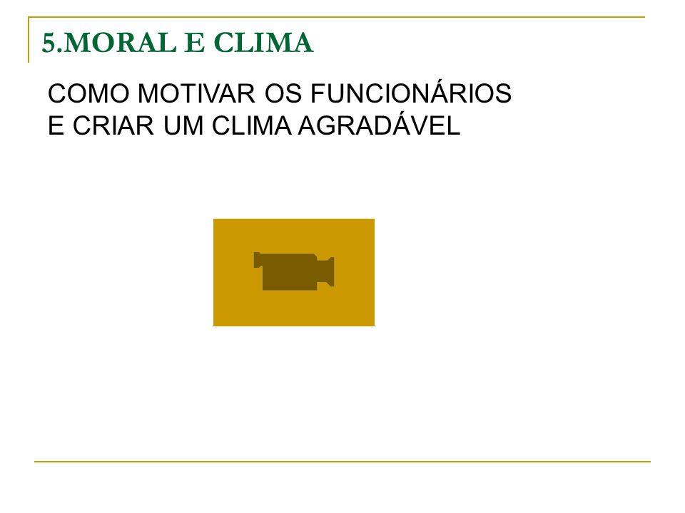 5.MORAL E CLIMA COMO MOTIVAR OS FUNCIONÁRIOS