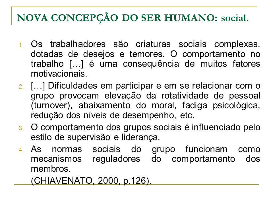 NOVA CONCEPÇÃO DO SER HUMANO: social.