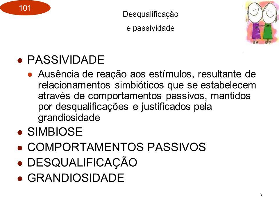COMPORTAMENTOS PASSIVOS DESQUALIFICAÇÃO GRANDIOSIDADE