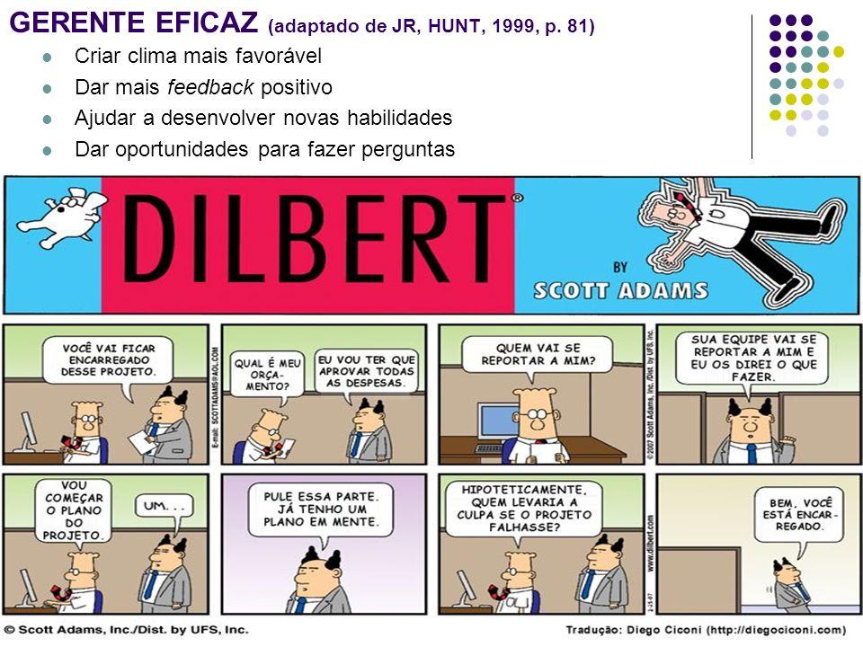 GERENTE EFICAZ (adaptado de JR, HUNT, 1999, p. 81)
