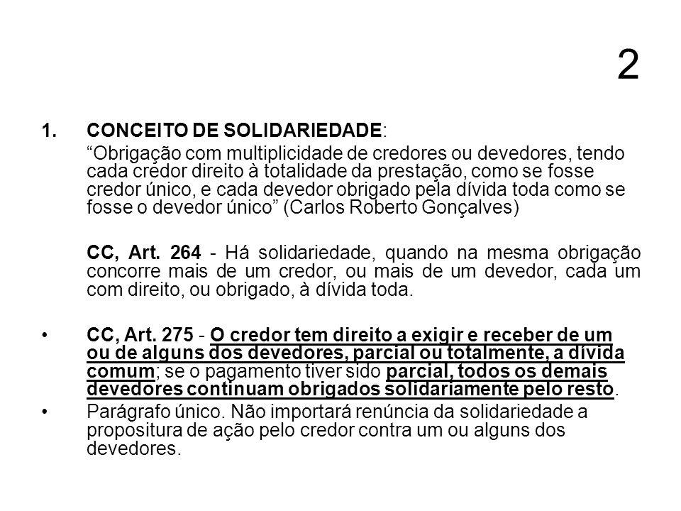 2 CONCEITO DE SOLIDARIEDADE: