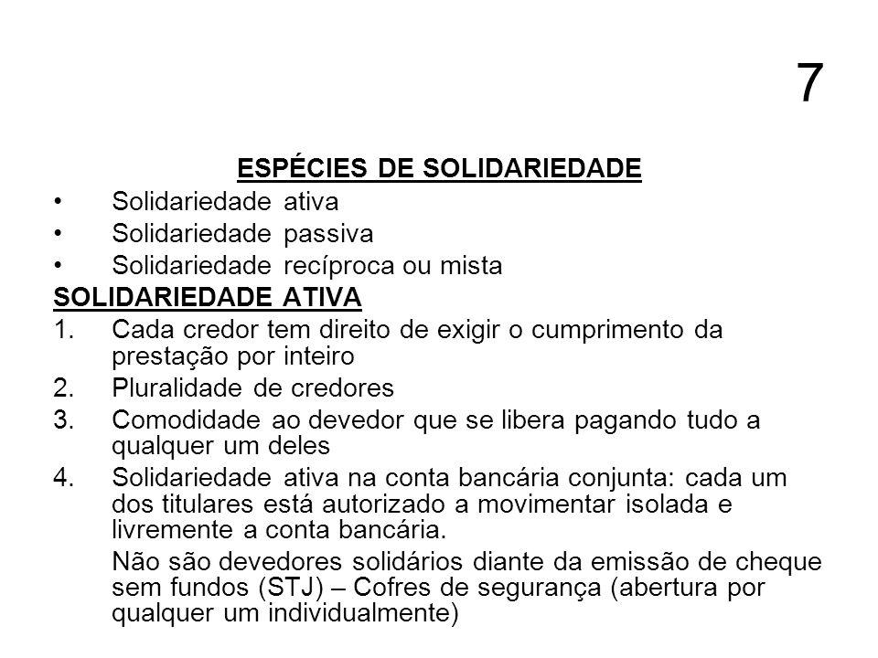 ESPÉCIES DE SOLIDARIEDADE