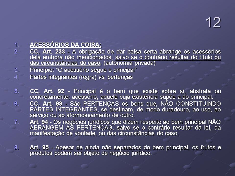 12ACESSÓRIOS DA COISA: