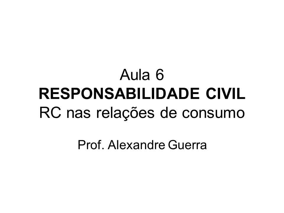 Aula 6 RESPONSABILIDADE CIVIL RC nas relações de consumo