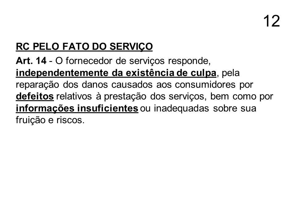 12 RC PELO FATO DO SERVIÇO.