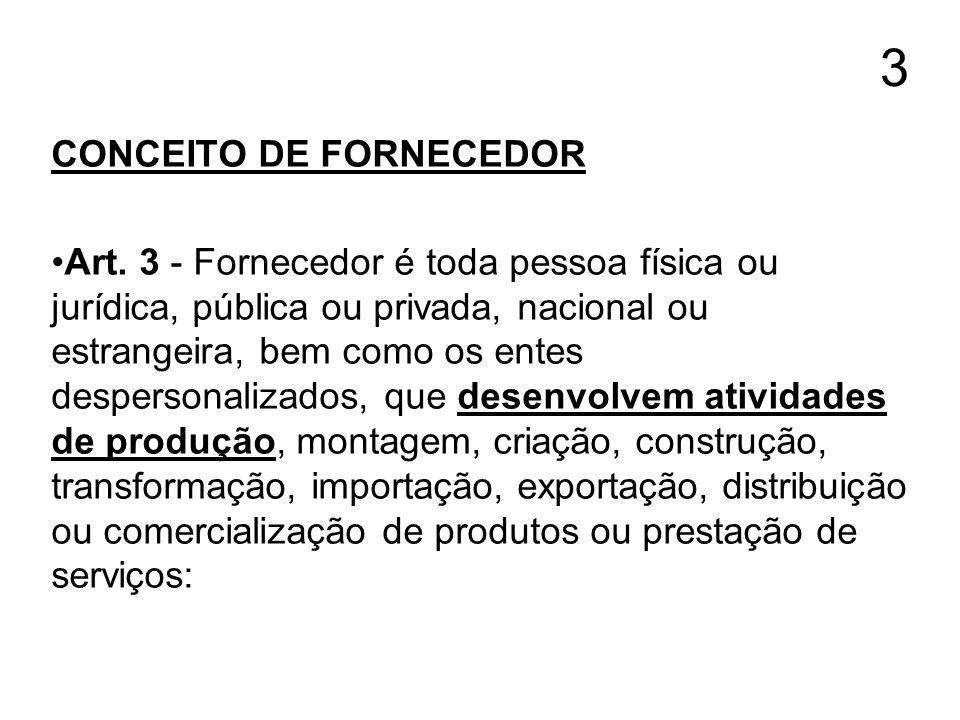 3 CONCEITO DE FORNECEDOR