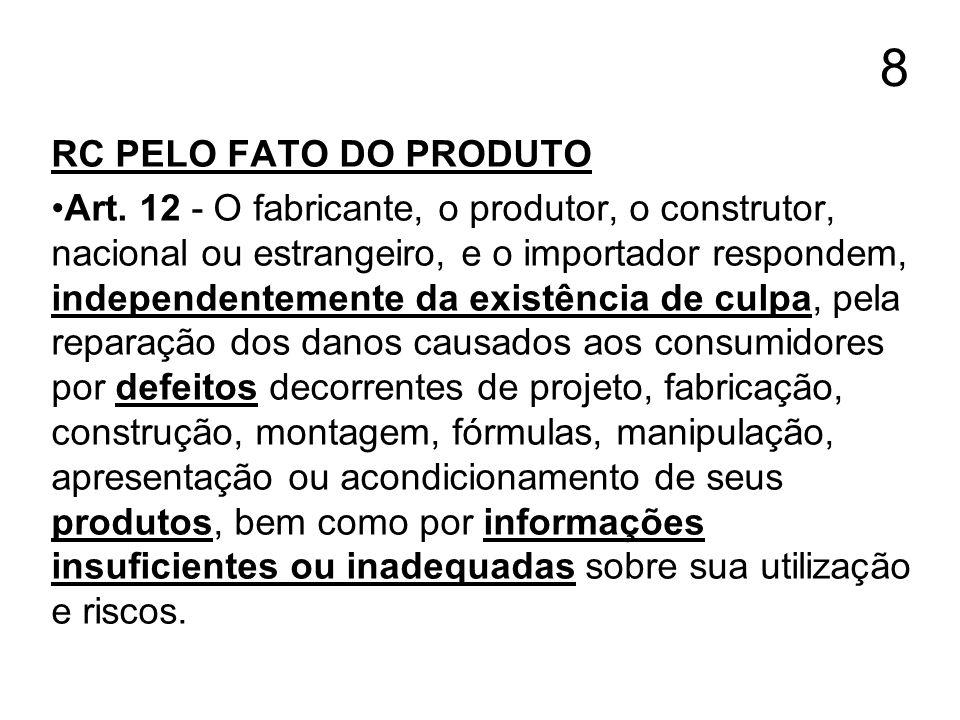 8 RC PELO FATO DO PRODUTO.