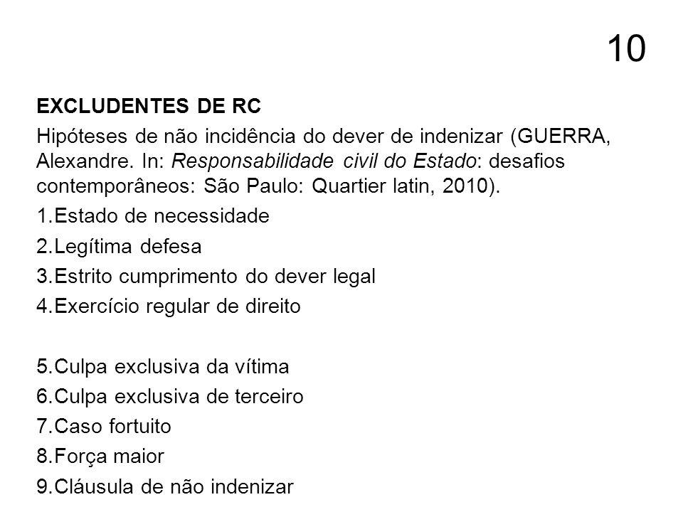 10 EXCLUDENTES DE RC.