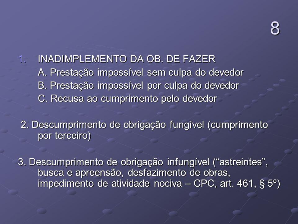 8 INADIMPLEMENTO DA OB. DE FAZER