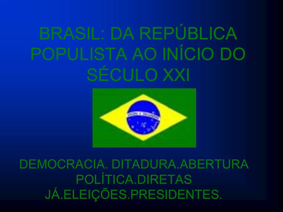 BRASIL: DA REPÚBLICA POPULISTA AO INÍCIO DO SÉCULO XXI