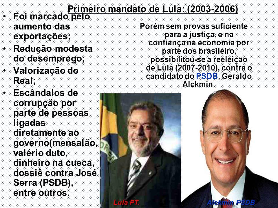 Primeiro mandato de Lula: (2003-2006)