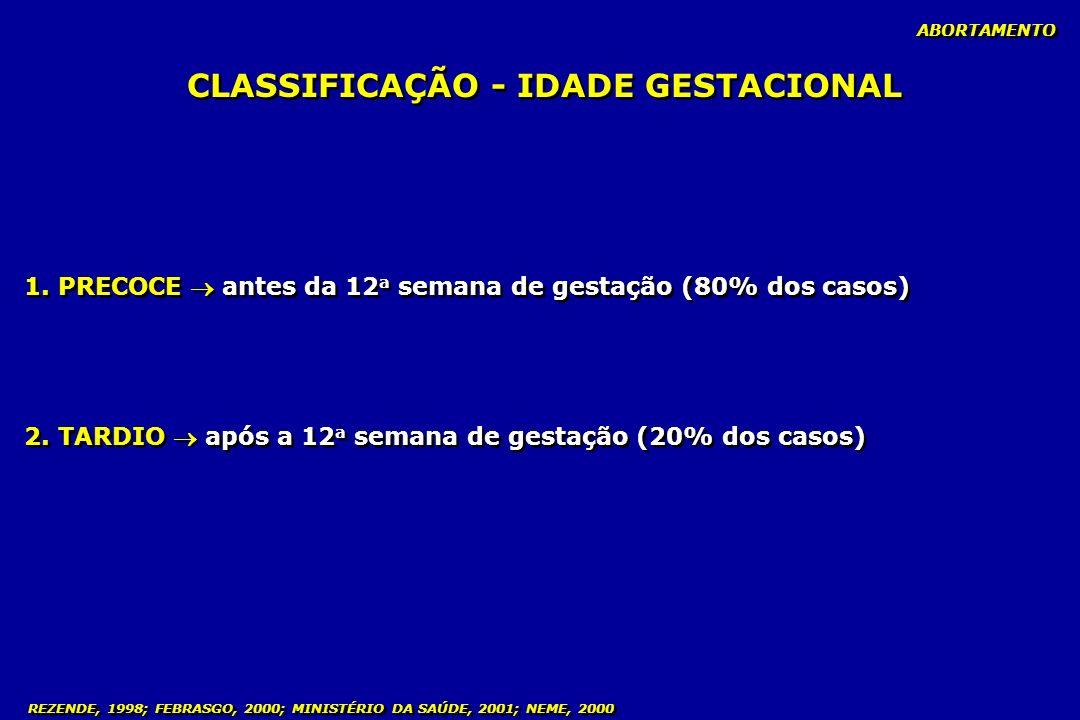 CLASSIFICAÇÃO - IDADE GESTACIONAL