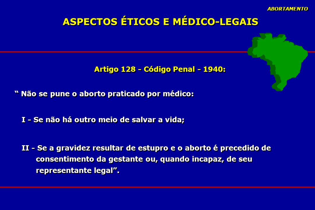 ASPECTOS ÉTICOS E MÉDICO-LEGAIS