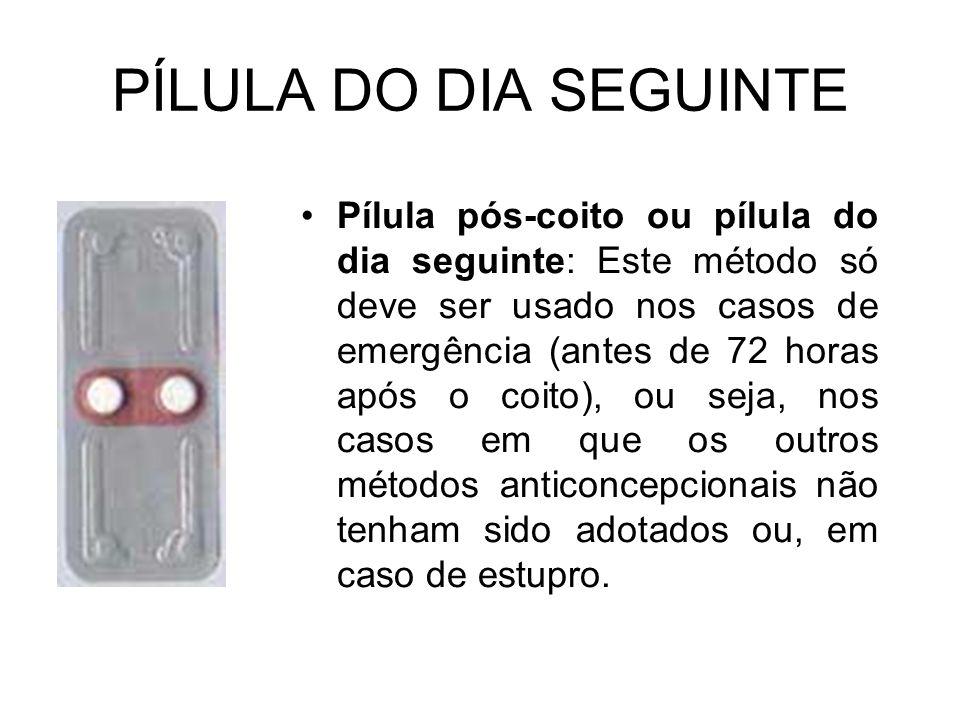 PÍLULA DO DIA SEGUINTE
