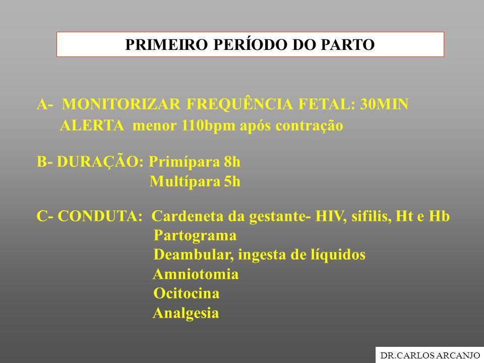 PRIMEIRO PERÍODO DO PARTO