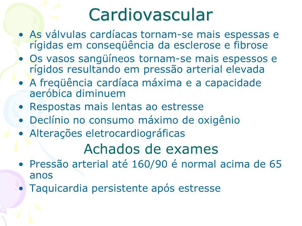 Cardiovascular Achados de exames