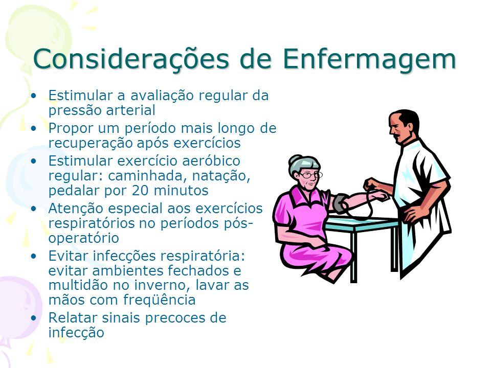 Considerações de Enfermagem
