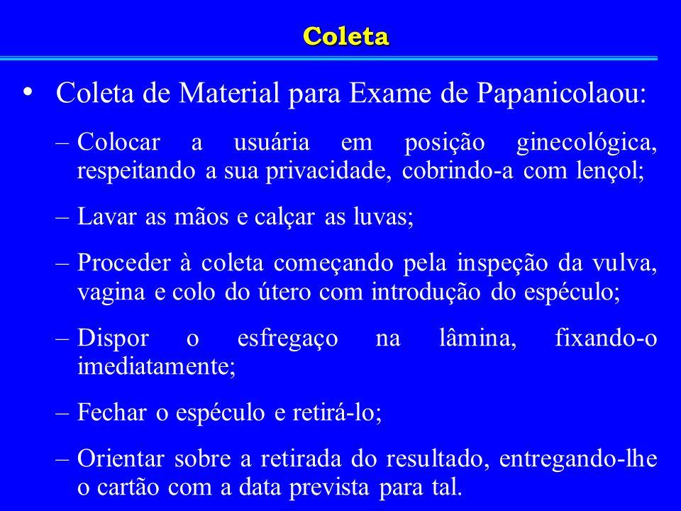 Coleta de Material para Exame de Papanicolaou: