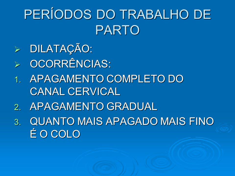 PERÍODOS DO TRABALHO DE PARTO