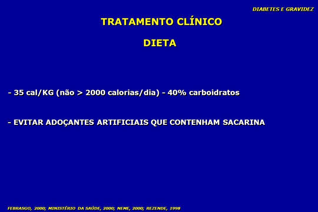TRATAMENTO CLÍNICO DIETA