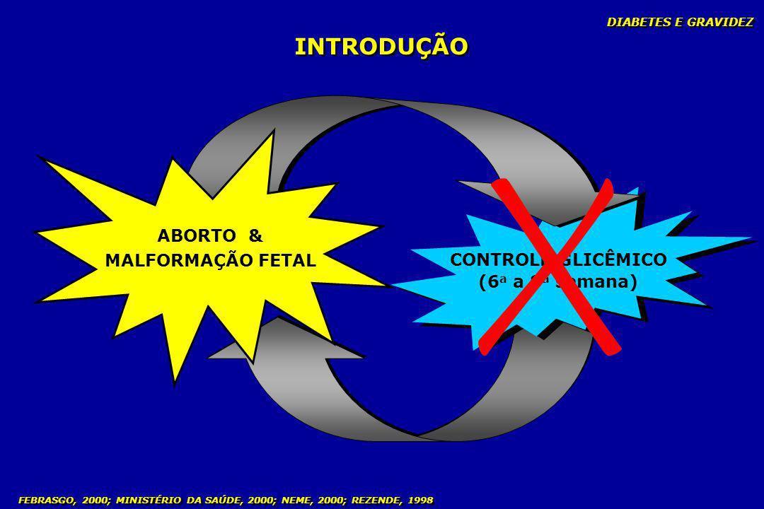 INTRODUÇÃO ABORTO & MALFORMAÇÃO FETAL CONTROLE GLICÊMICO