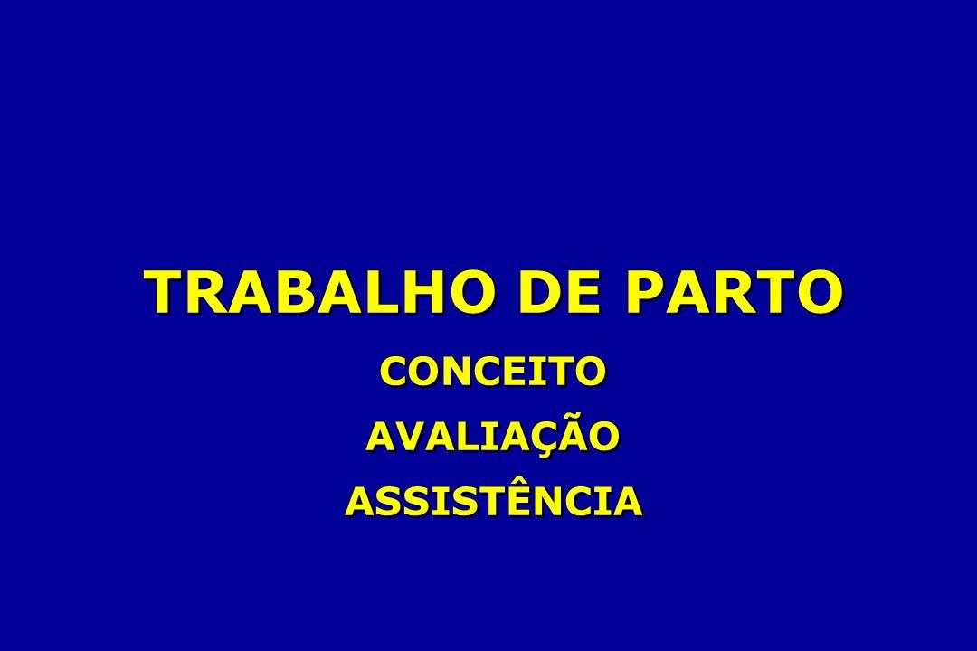 TRABALHO DE PARTO CONCEITO AVALIAÇÃO ASSISTÊNCIA