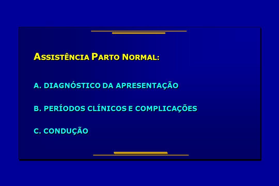 ASSISTÊNCIA PARTO NORMAL: