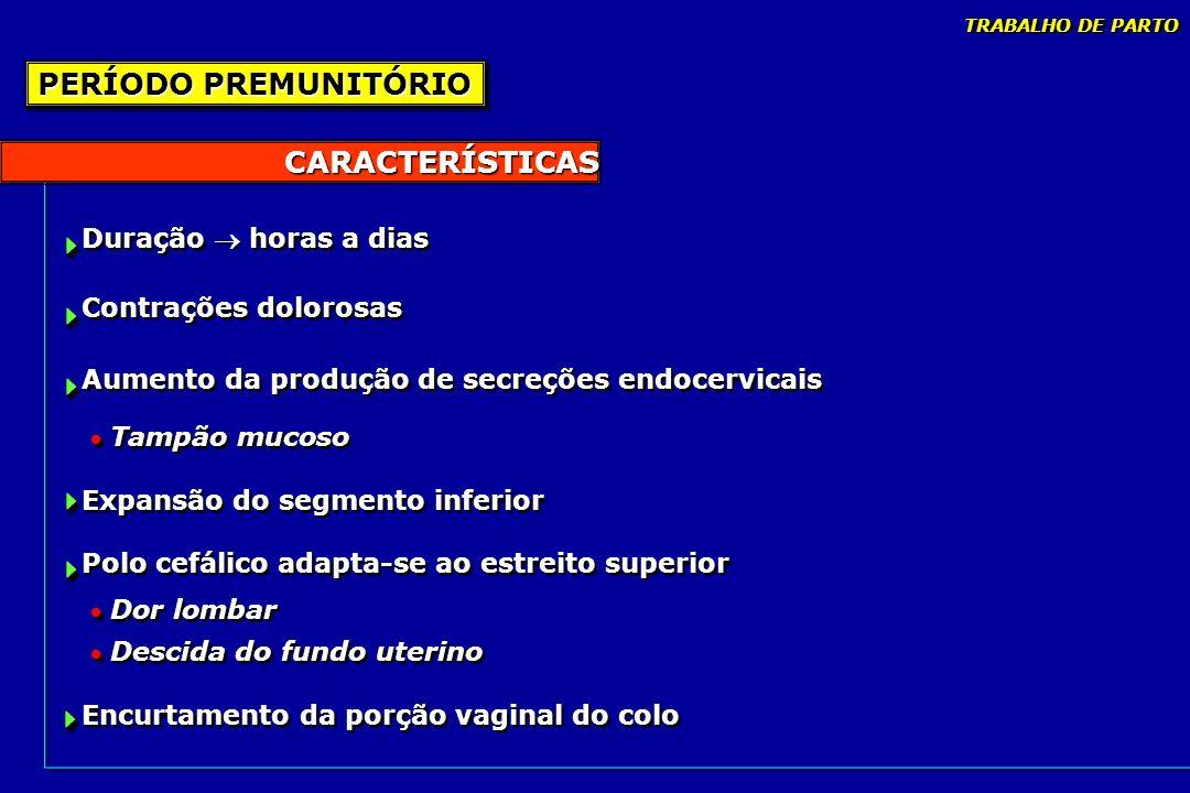 PERÍODO PREMUNITÓRIO CARACTERÍSTICAS      