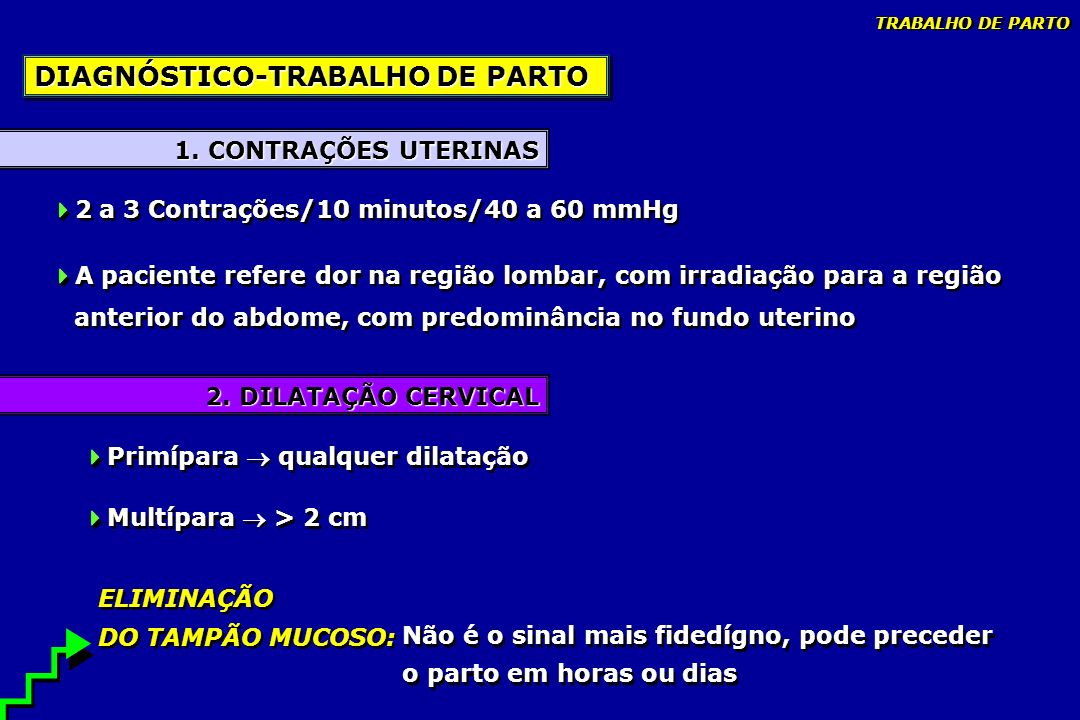 DIAGNÓSTICO-TRABALHO DE PARTO