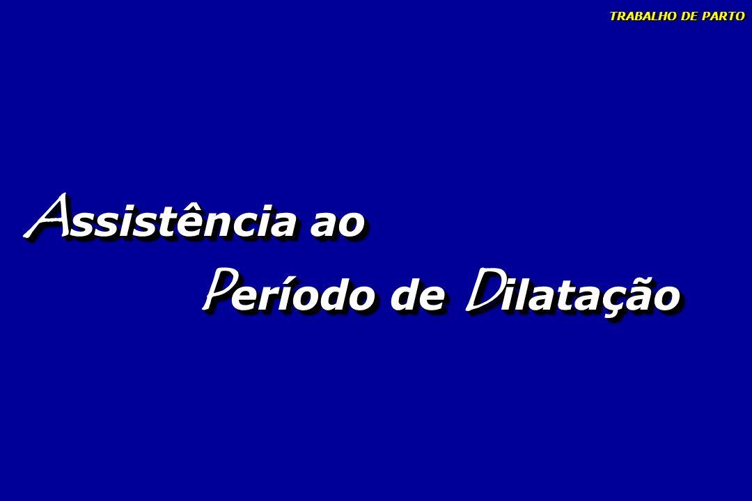 TRABALHO DE PARTO Assistência ao Período de Dilatação