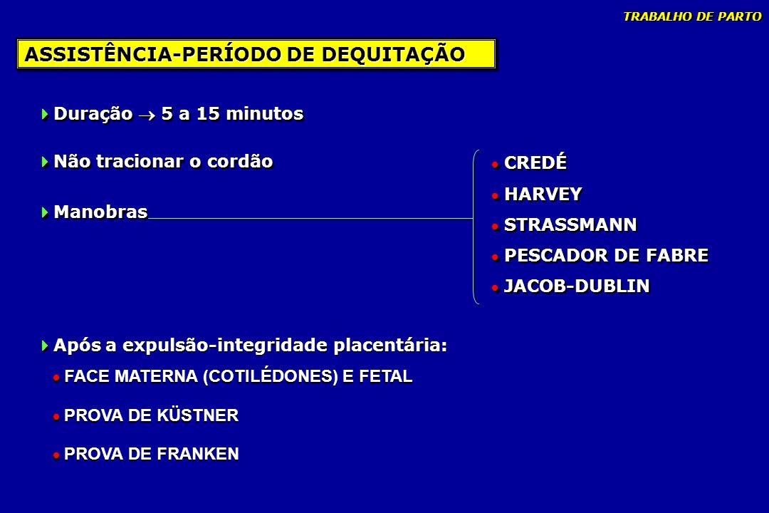 ASSISTÊNCIA-PERÍODO DE DEQUITAÇÃO