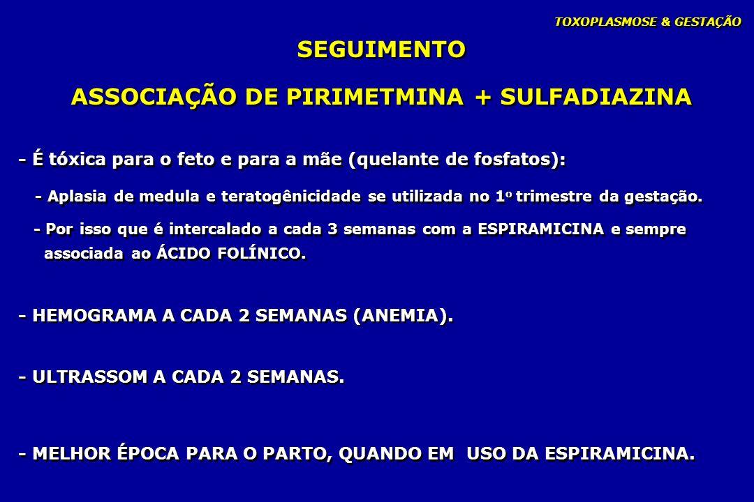 ASSOCIAÇÃO DE PIRIMETMINA + SULFADIAZINA