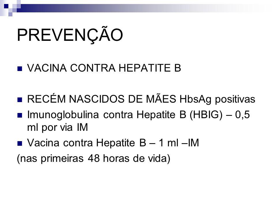 PREVENÇÃO VACINA CONTRA HEPATITE B