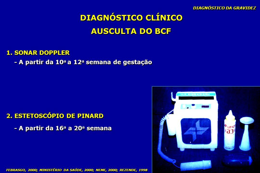 DIAGNÓSTICO CLÍNICO AUSCULTA DO BCF